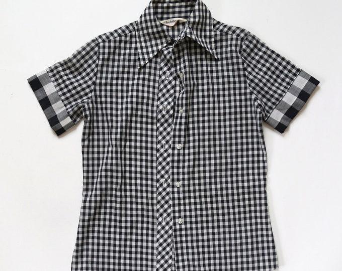 Lady Arrow blouse | Vintage 50s gingham blouse