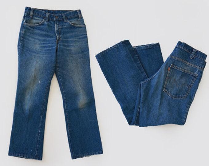 60s 684 Levis | Vintage 60s orange tab Levis indigo blue jeans USA W33 L28