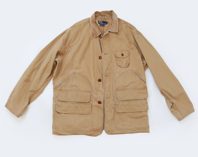 Vintage POLO RALPH LAUREN Mens Hunting Safari coat jacket