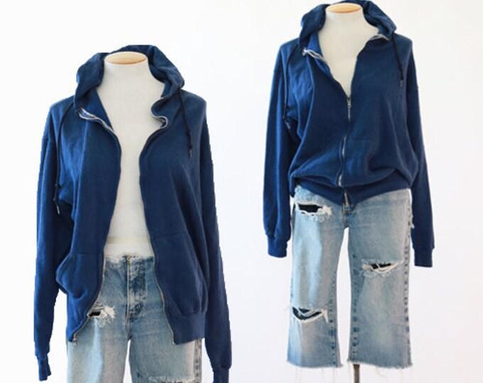 Blue hoodie | Vintage 80s sweatshirt