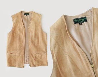 Abercrombie & Fitch suede leather vest | Vintage 60s Abercrombie and fitch leather vest