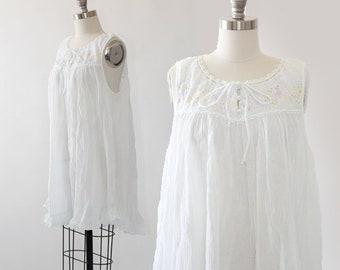 Amanda Stewart intimates | Vintage cotton gauze babydoll nightie dress