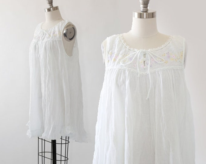 Amanda Stewart intimates | Vintage cotton gauze babydoll nightie dress