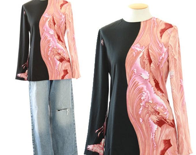 Phoenix wave top | Vintage 60s The Kollection blouse
