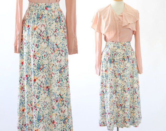 Botanical midi skirt