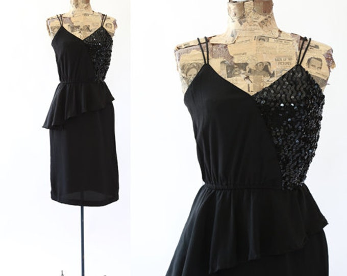 Jon Wesley dress | Vintage 70s sequin peplum dress