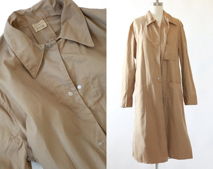 Sanforized Canvas Chore coat | Vintage 50s canvas lab coat