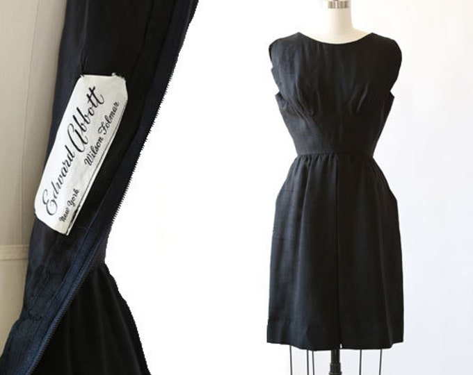 Edward Abbott silk dress | Vintage 50s silk wiggle dress