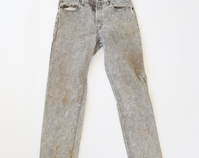 Vintage 80s Levis distressed Acid Wash jeans USA W31 L35