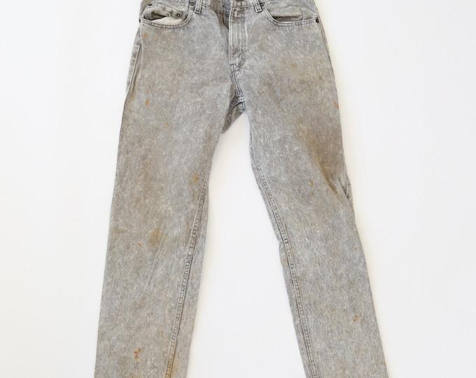 Vintage 80s Levis distressed Acid Wash jeans USA W31 L35