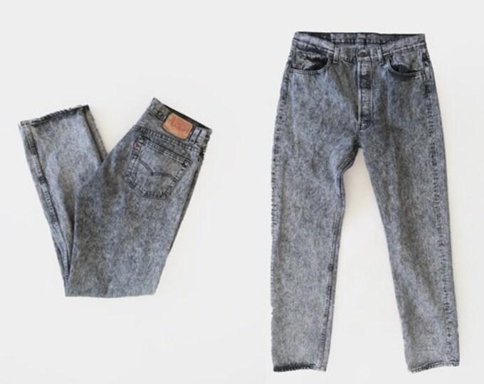 501 Acid wash levis | Vintage 80s Levis Acid Wash jeans USA W33 L34