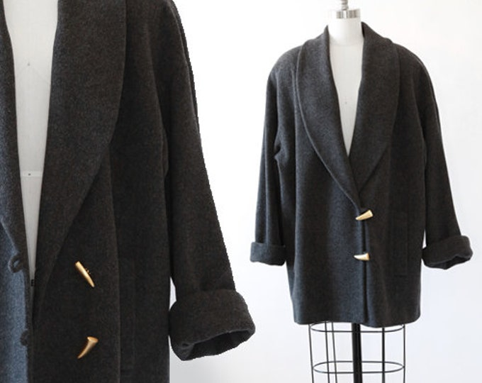 Anne Klein II Coat  | Vintage 90s Oversized minimalist wool coat