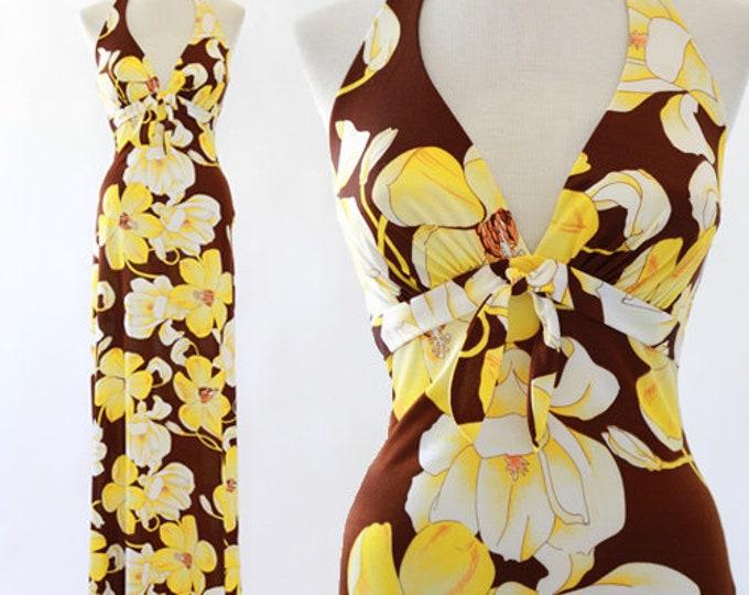 De Weese Hawaiian dress | Vintage 70s Hawaiian Maxi dress S