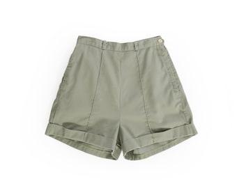 50s high waist cotton shorts
