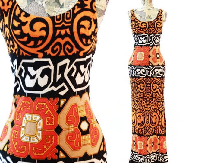 Lorue Terry Cloth dress | Vintage 60s Bohemian maxi dress