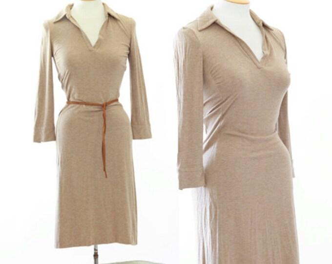 Diane Von Furstenberg DVF brown jersey knit dress Sz 4