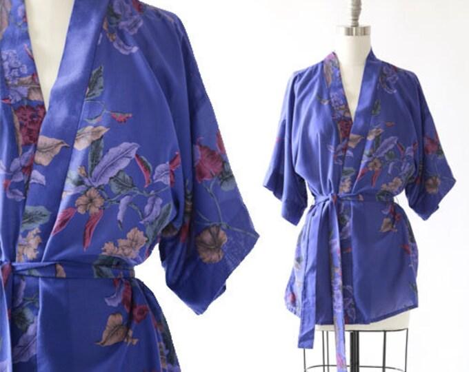 Floral wrap blouse | Vintage 70s floral wrap blouse