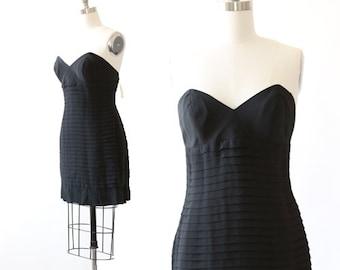 Nicole Miller mini dress | Vintage Nicole Miller deadstock pleated party dress