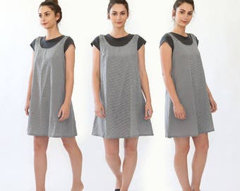 SALE! ESPRIT gingham minimalist babydoll dress
