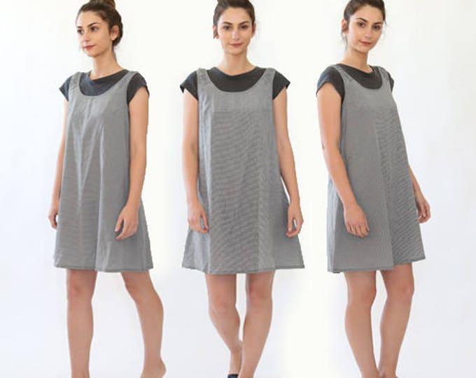 ESPRIT gingham minimalist babydoll dress