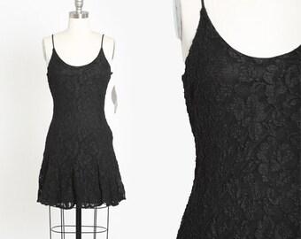 Rampage lace mini dress | Vintage 90s black lace mini dress | 1990s deadstock rampage dress