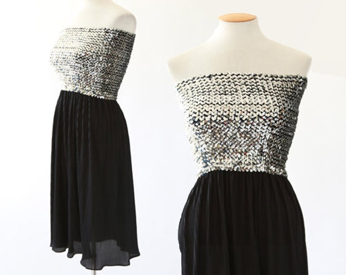Disco mini dress | Vintage 70s sequin dress