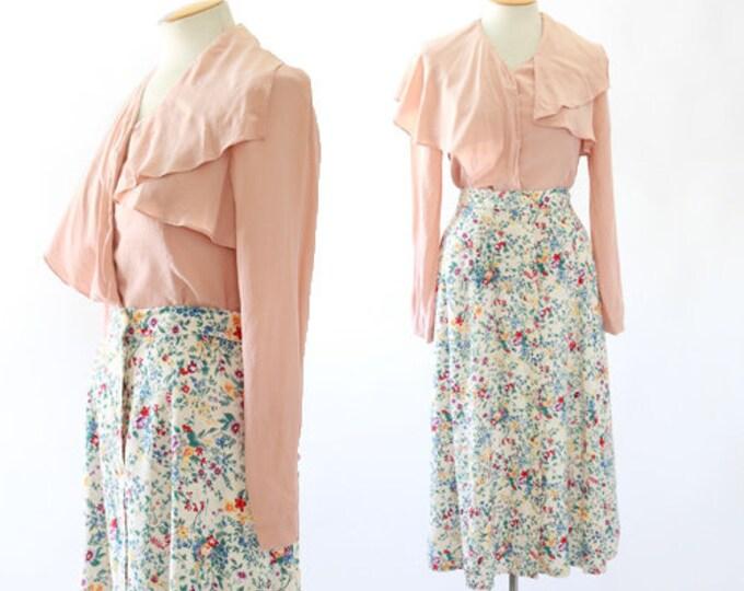 Blush Pink silk blouse