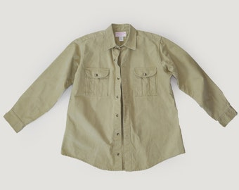 Vintage C.C. Filson Mens cotton hunting work shirt jacket 44