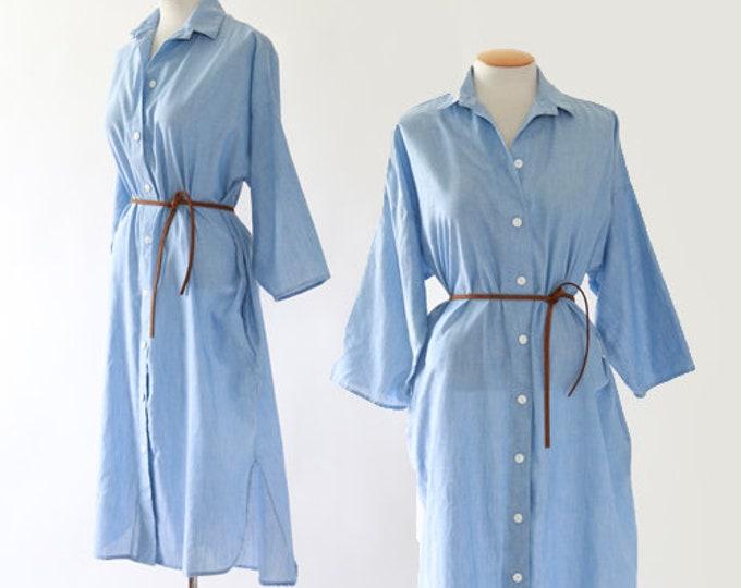 Chambray dress | Vintage T shirt dress Sz. 9