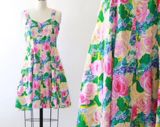 Vintage 90s silk floral mini dress
