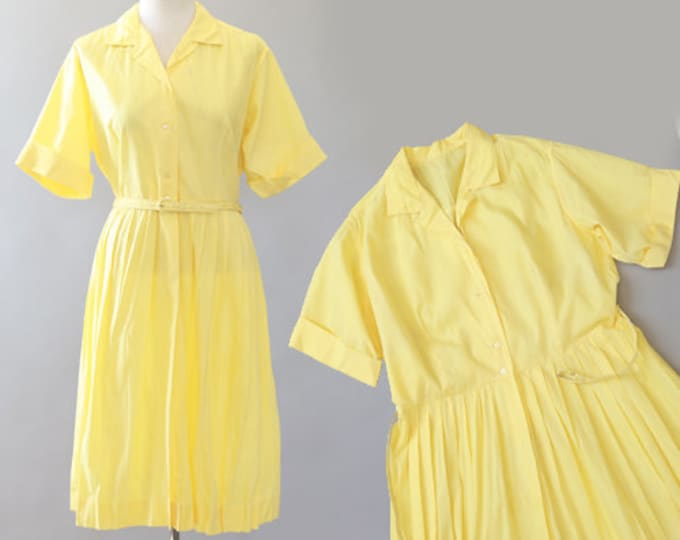 Vintage 50s yellow day dress