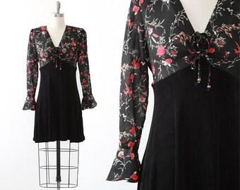 Anna floral dress   Vintage 90s sheer floral stretch mini dress