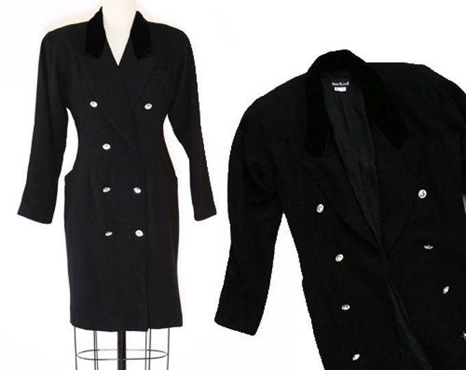 Anne Klein II tuxedo dress | Vintage tuxedo dress coat jacket