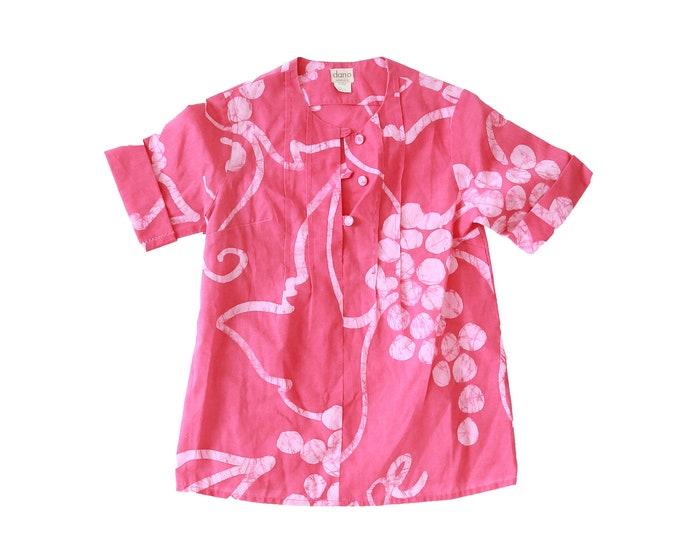 60s DANO Honolulu Hawaiian cotton blouse S