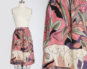 Jungle print skirt | Vintage 90s novelty jungle safari print mini skirt