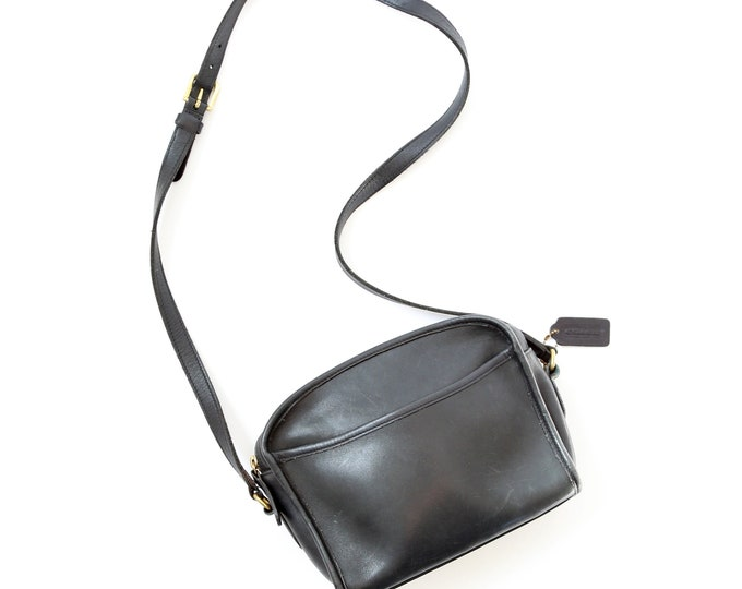 Vtg COACH bag | Black leather coach crossbody purse