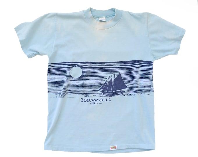 Hawaii t-shirt | Vintage 70s HAWAII paper thin t shirt