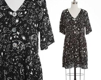90s cosmos zodiac mini dress