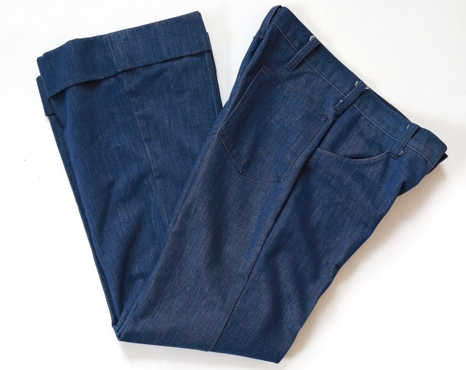 TOBIAS TROUSERS | Vintage 70s Tobias Trousers A-1 cuffed jeans