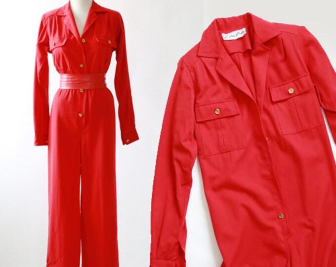 Lillie Rubin jumpsuit | Vintage 80s Lillie Rubin wool jumpsuit