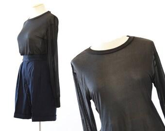 Imperial Silk shirt | Vintage 70s pure silk sheer top