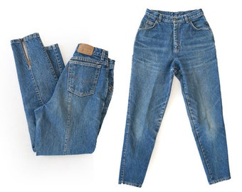 Ankle zip Levis | High waist Levis | Vintage 80s Tapered Leg USA W28 L29