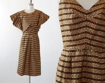 60s Gold Lurex dress | Vintage 60s space age Avant Garde dress | 60s couture