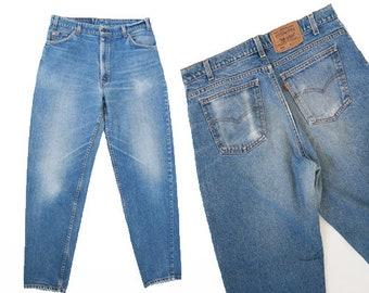 550 Levis | Vintage 80s orange tab LEVI'S 550 denim Jeans W35 L31 1/2
