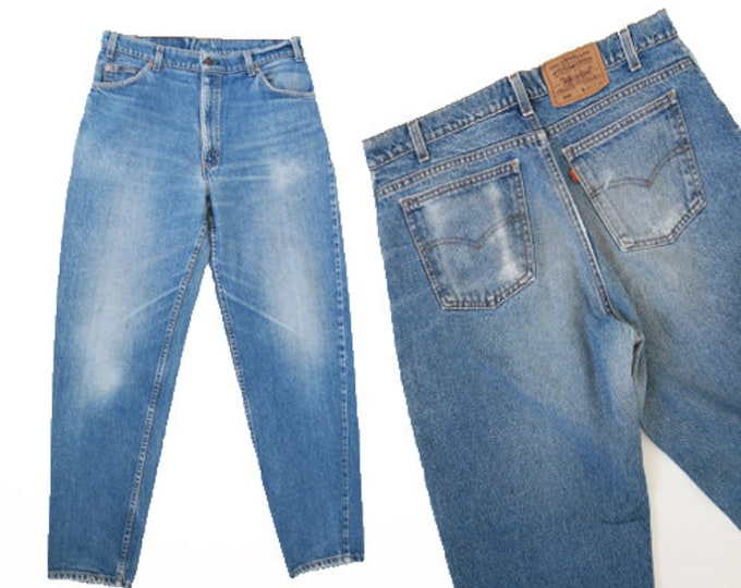 550 Levis | Vintage 80s orange tab LEVI'S 550 denim Jeans W35 L31 1/2