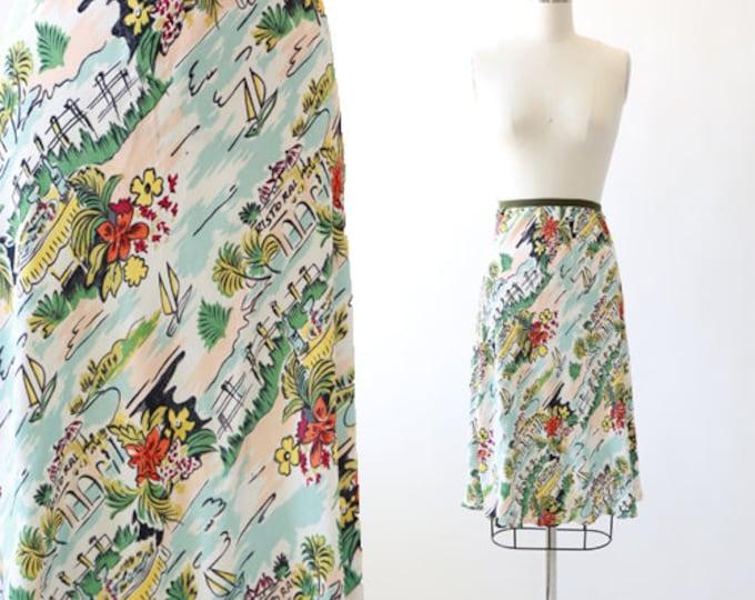 Loco Lindo tropical skirt | Vintage 90s loco lindo rayon skirt