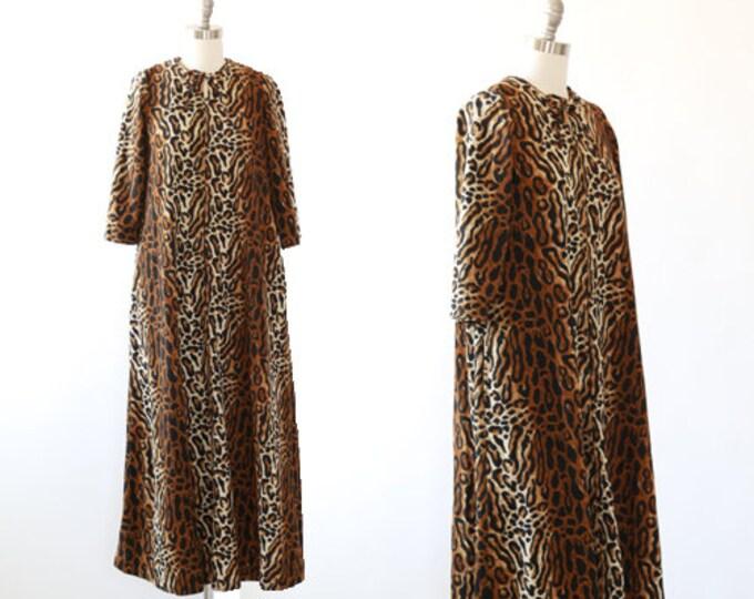 Dela-Ann leopard night gown |  Vintage 60s leopard print loungewear dress | 1960s maxi dress