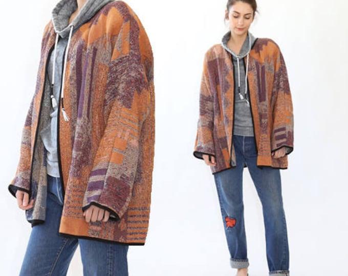Vintage woven minimalist coat jacket