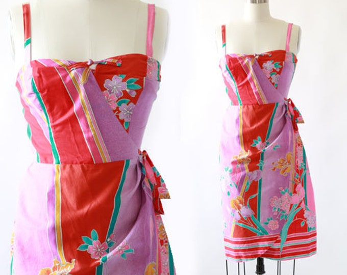 Kimo's topical sarong dress | Vintage 60s Hawaiian sarong Dress