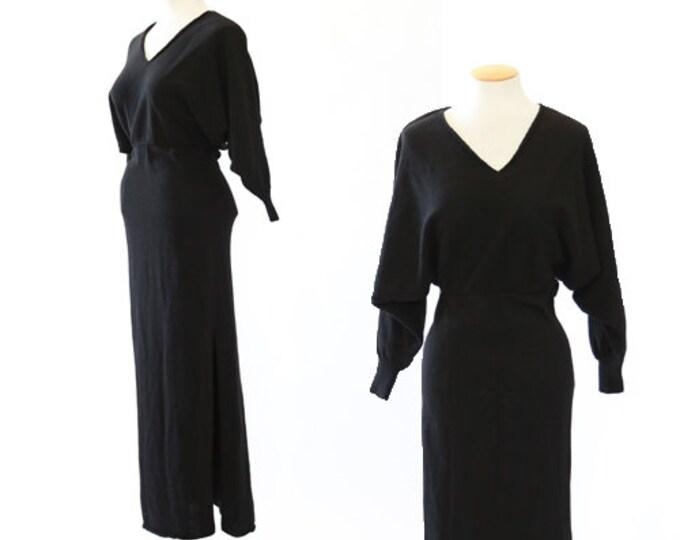 Wicked knit dress | Vintage 90s knit dolman sleeve maxi dress